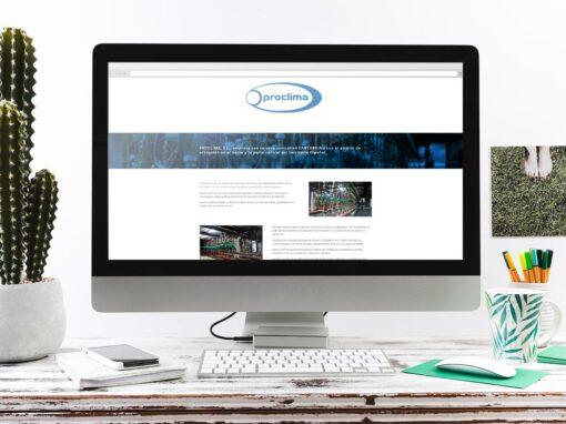 Página web Acondicionamiento de Aire Proclima, S.L.U.